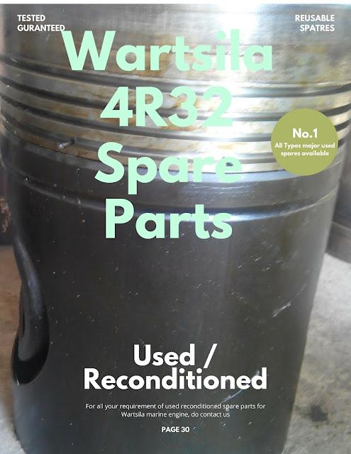 Wartsila, R32, 4R32, 6R32, 8R32, Vasa, marine, engine, motor, motori, supplier, spare parts, liner, piston, con rods, recond, block, push rods, cylinder heads,rings, seat, valve, guide, nozzle