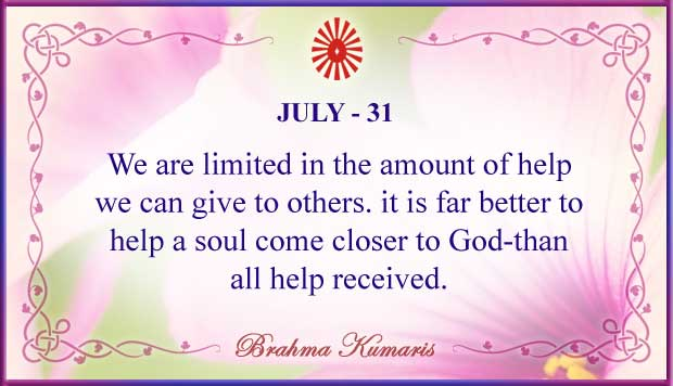 Thought For The Day July 31