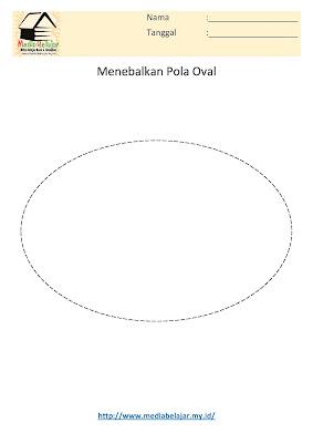 Menebalkan Pola Oval