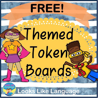 Be sure to get all of the free themed token boards from Looks-Like-Language!