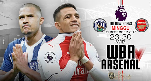 Prediksi Bola : West Bromwich Albion Vs Arsenal , Minggu 31 Desember 2017 Pukul 23.30 WIB