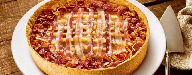 Torta de Cebola com Bacon