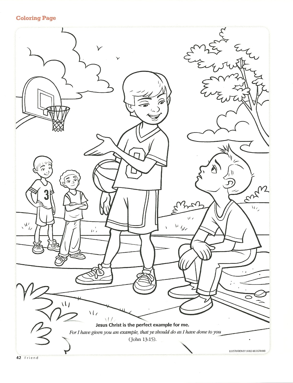 a good friend coloring pages