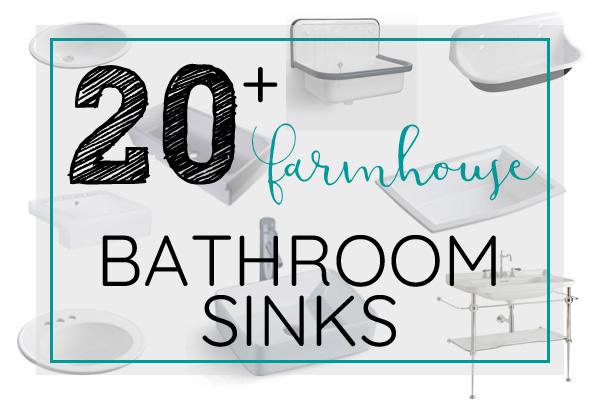 Farmhouse style bathroom sinks