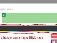 Menghilangkan menu diheader tanpa hapus HTML pada templat evomagz