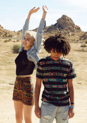 H&M Coachella camisetas denim, falda y top crochet
