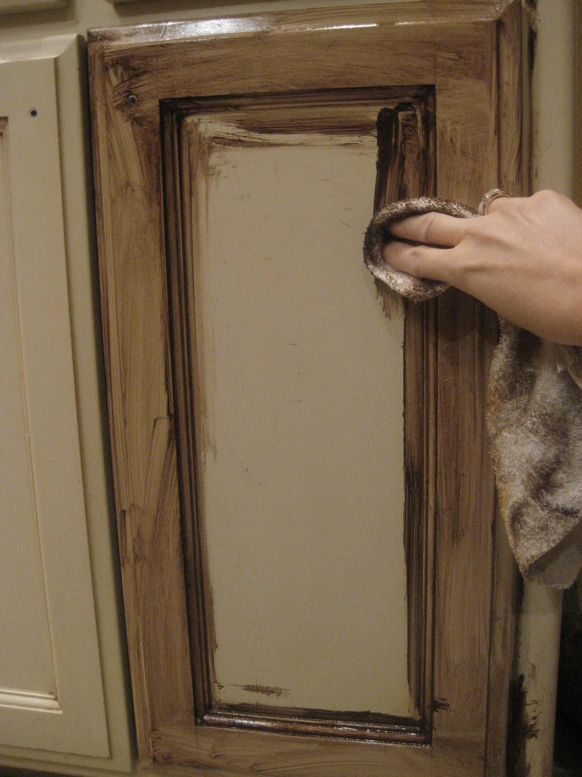 Kristen Creations Glazing Painted Kitchen Cabinets