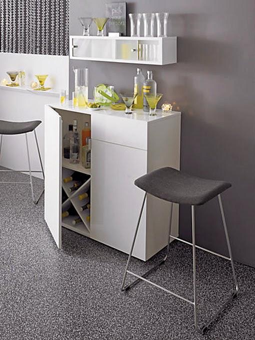 mueble bar integrado en la decoracin