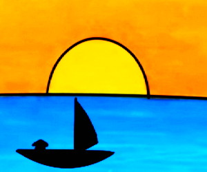 cara+menggambar+matahari
