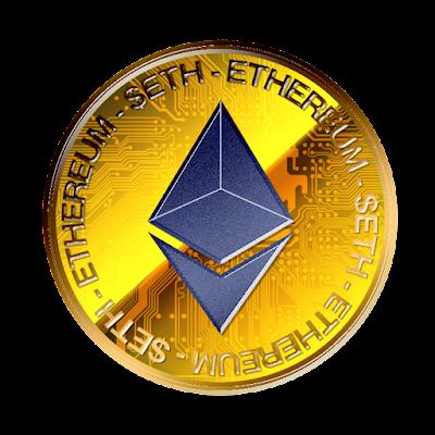 Ethereumのフリー素材(金貨青色ver)
