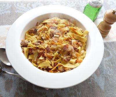 Haluski - Egg Noodles with Cabbage and Pork