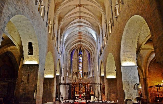 Interior da Basilica de Sant Feliu, Girona