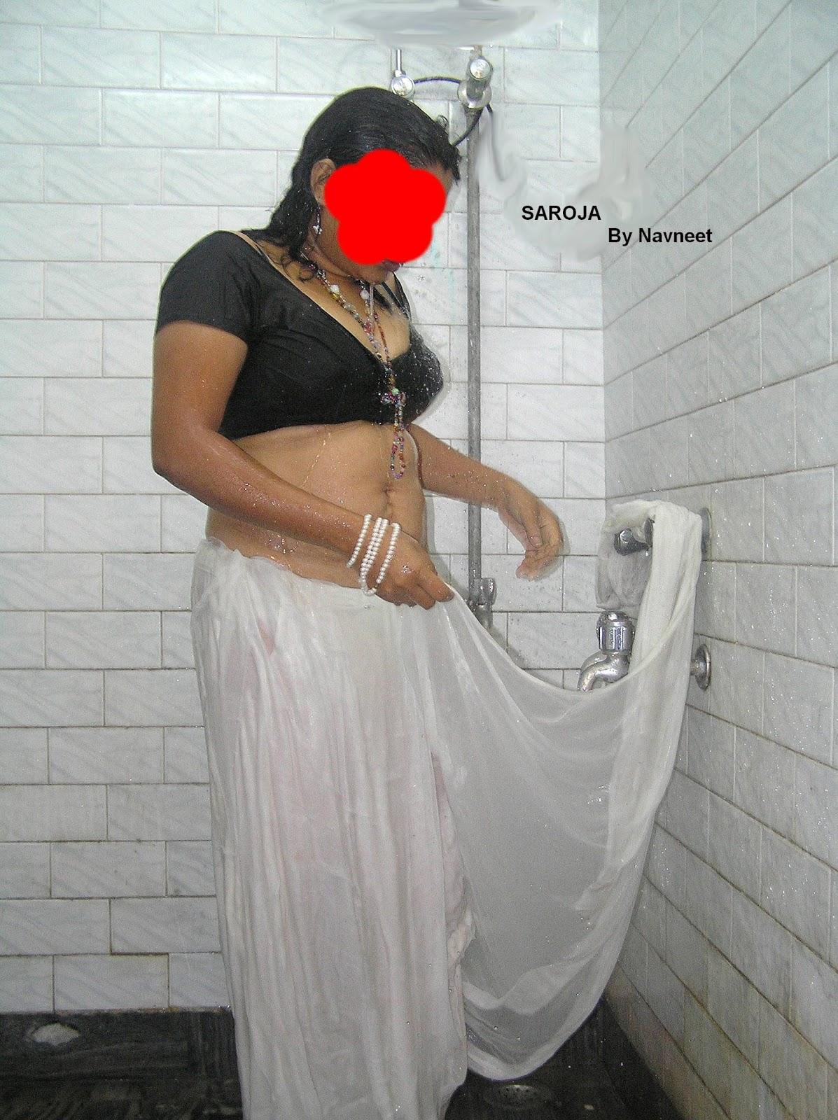 Aishwarya Rai Saroja Bhabi In White Saree-2567