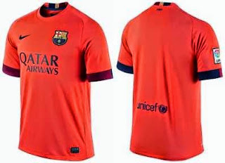 online shop, grade ori, jual jersey Barcelona away terbaru, grade ori thailand, photo penampakan jersey barca away, warna pink, orange, training jersey barcelona, sepatu bola barcelona messi, toko online enkosa.com online shop baju kostum bola terpercaya