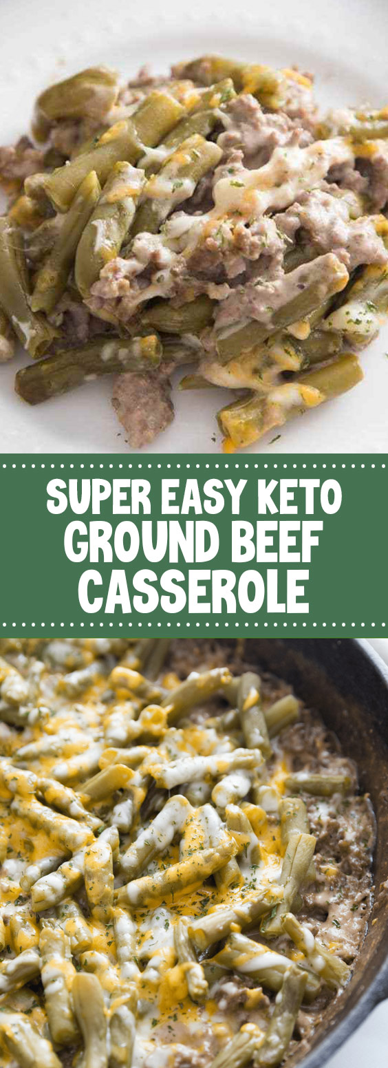 Super Easy Keto Ground Beef Casserole #keto #sidedish