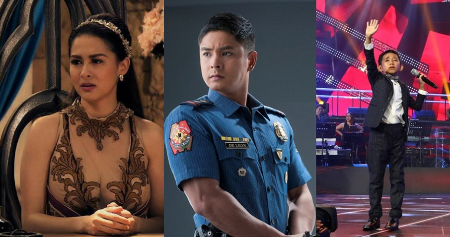 Marian Rivera (Encantadia), Coco Martian (Ang Probinsyano) and Joshua Oliveros