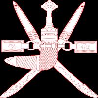 Logo Gambar Lambang Simbol Negara Oman PNG JPG ukuran 200 px
