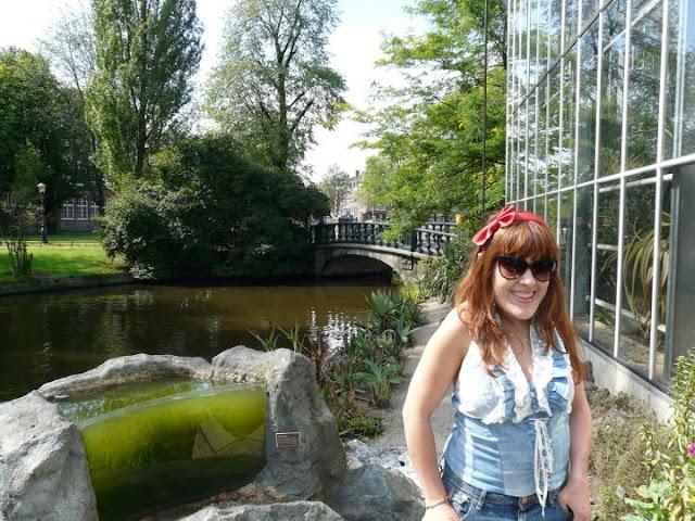 visite du jardin botanique d'Amsterdam