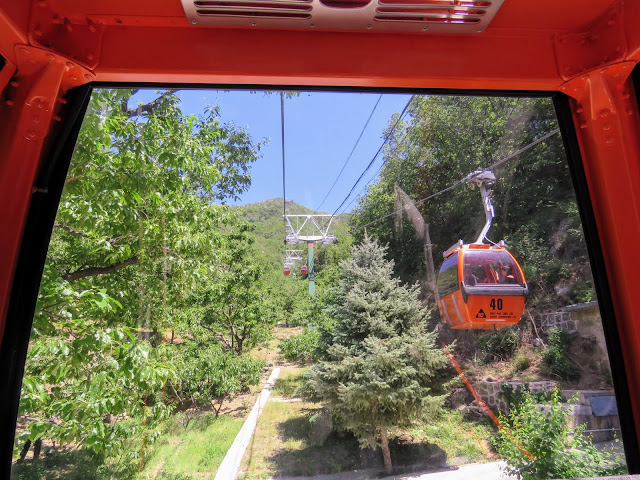 Cable car up to the Mutianyu section of the Great Wall of China