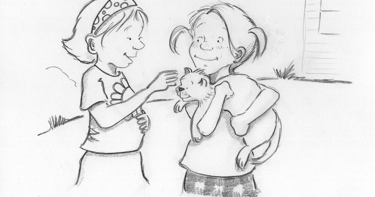 Michelle Henninger: On the drawing board...kids and cats.