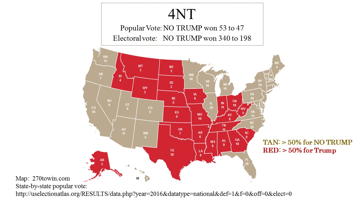Trump Won States Map.My Unpublished Works 2 4nt The Majority Voted For No Trump