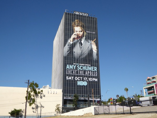 Giant Amy Schumer Live Apollo HBO billboard Sunset Strip