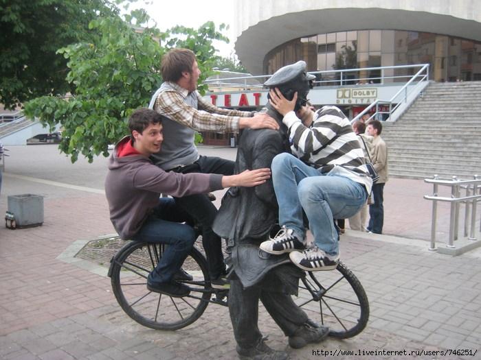 Поцелуй с велосипедистом
