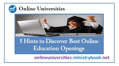 5 Hints to Discover Best Online Education Openings
