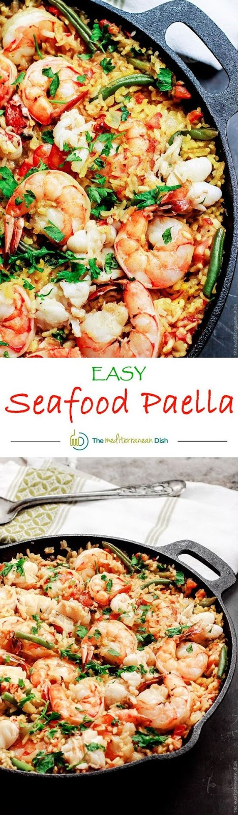easy seafood paella recipe