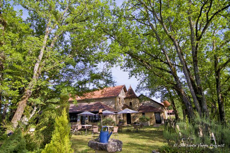 Jardin del Auberge de Castel Merle - Sergeac, Francia por El Guisante Verde Project