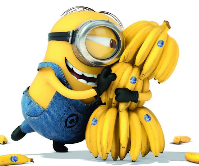 minions with banana photo