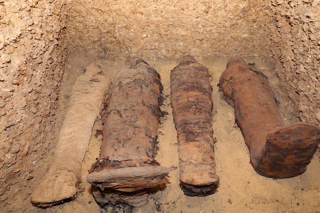 Mummy-filled burial chambers discovered in Egypt's Minya