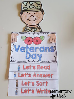 Veterans Day flip book- November Resources and two FREEBIES to use in November for primary classrooms- fall activities