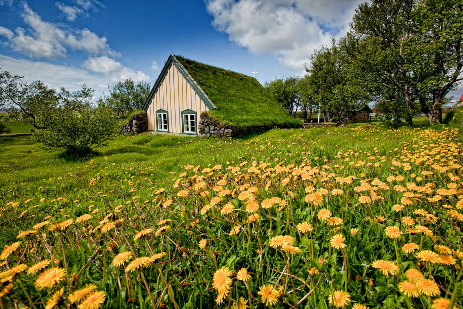 The Last Turf Church of Hof , Hofskirkja Church Iceland