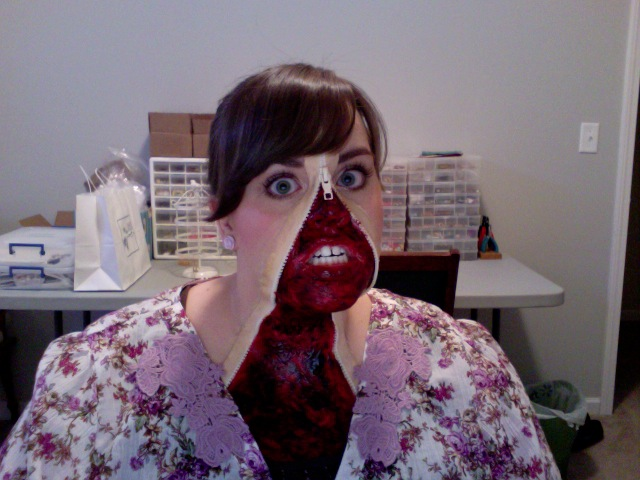 Just thought Iu0027d quickly share the  Zipper Face  Halloween costume I wore to a party with friends on Sunday. Gory costumes arenu0027t usually my thing as I much ... & That Winsome Girl: Happy Halloween!