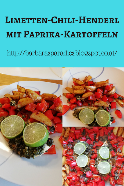 Limetten-Chili-Henderl mit Paprika-Kartoffeln