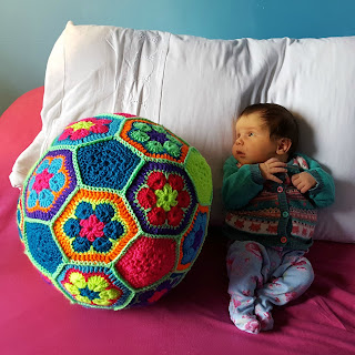 Dada Neon Crochet Football soccer ball