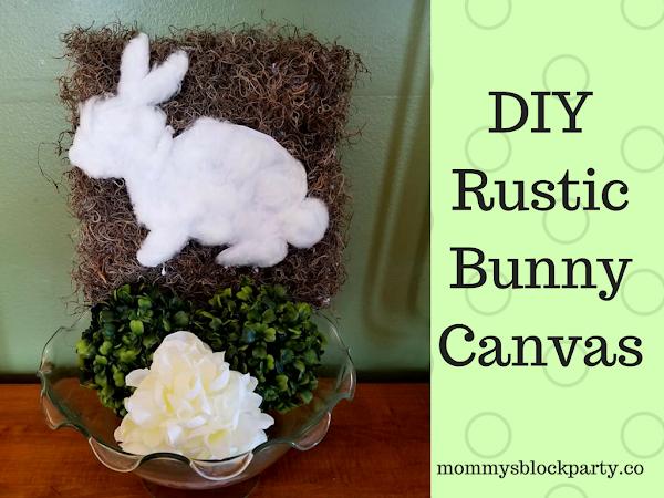 Dollar Tree DIY Rustic Bunny Canvas (In 10 Minutes!)