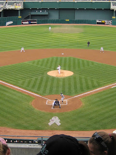 First pitch, Mariners vs. Athletics