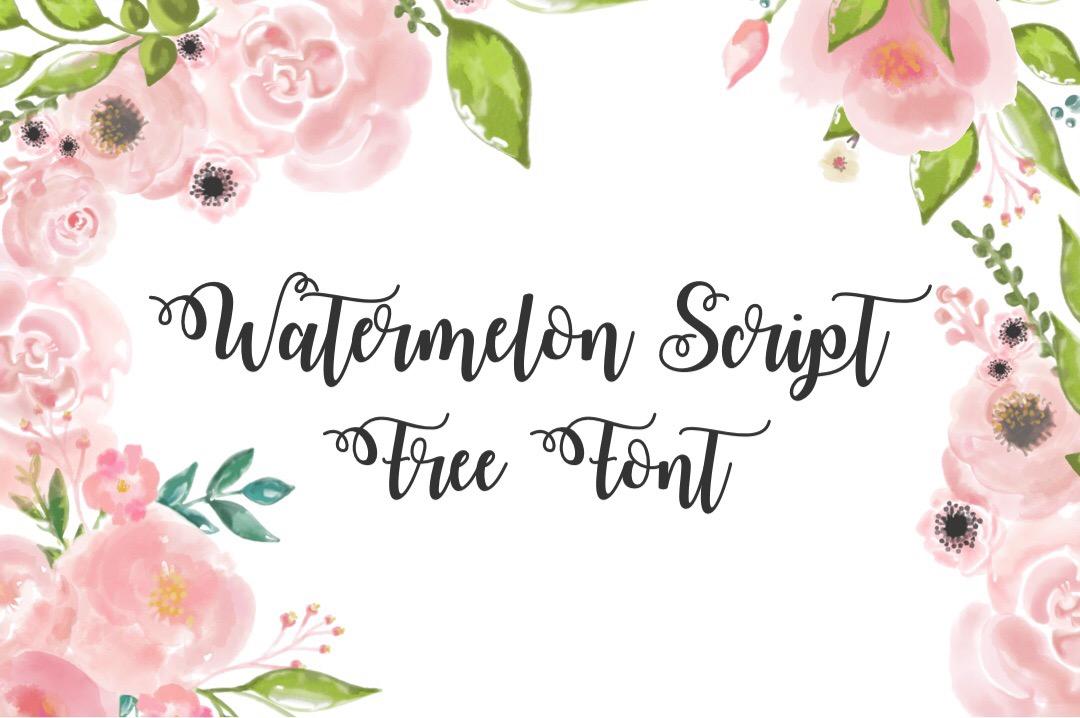 Watermelon Script Font Download
