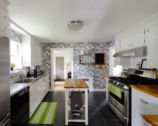 Foto Gambar Contoh Dapur Yang Mengfunakan Wallpaper Lengkap Terbaru