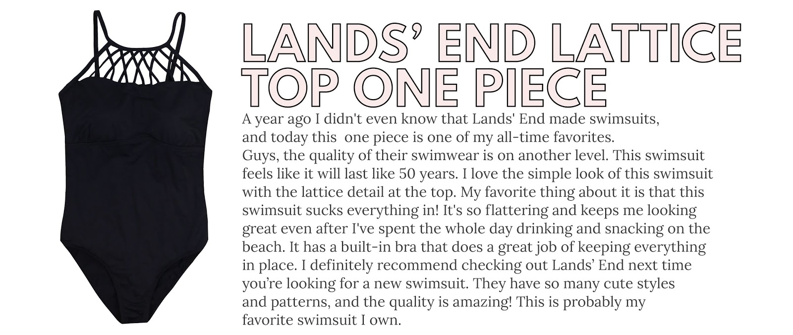 Lands' End Swimwear Review, Lands' End Lattice Top One Piece Swimsuit