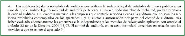 artículo 5.4 del RUE 537/2014