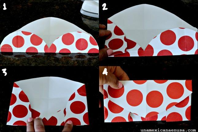 Cómo hacer un sobre con un corazón de papel