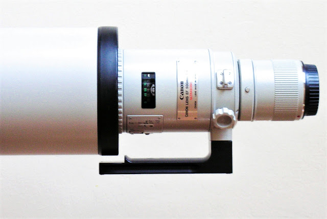 Canon EF 500 mm L USM with H126 and lens hood rev