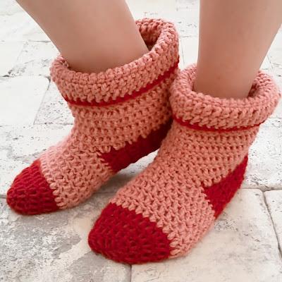 botas para casa a crochet - ahuyama crochet