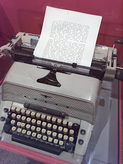 Original typewriter and typed props from The Shining