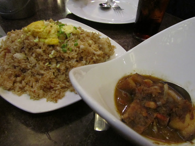 Barrio Fiesta's Shanghai Rice and Binagoongang Baboy