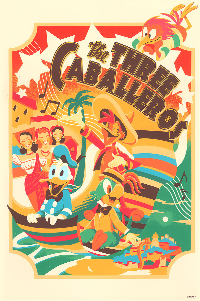 The Blot Says The Three Caballeros Screen Print By