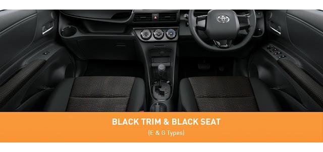 Toyota Sienta Interior Mewah Black Trim